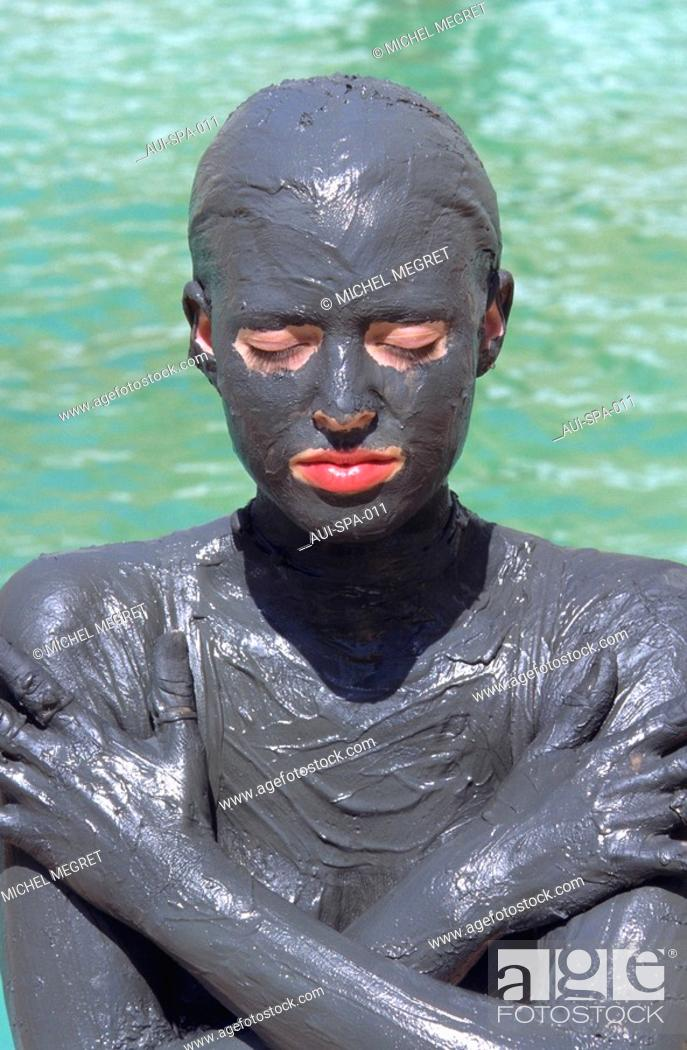 Stock Photo: Spa - Mud bath.