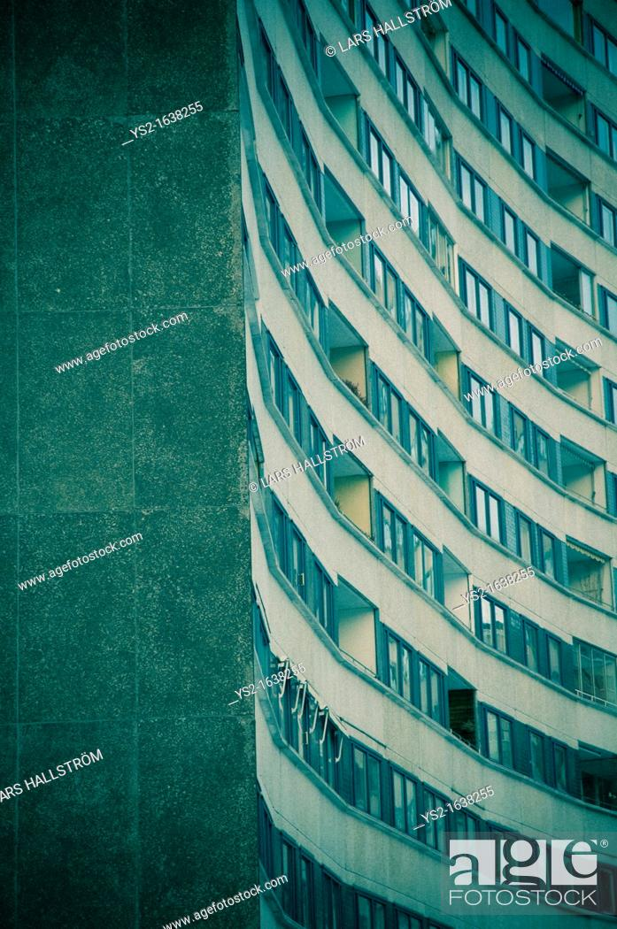 Stock Photo: Apartment building in Stockholm.