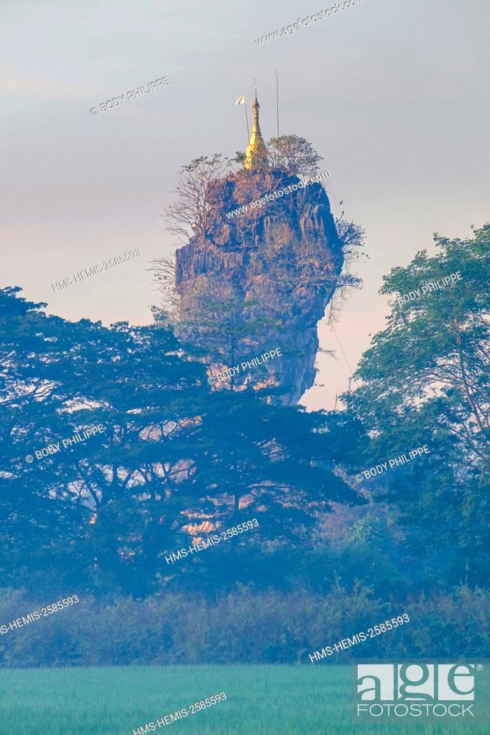 Stock Photo: Myanmar, Burma, Karen state, Hpa An, Kyauk Kalap or Kyaik Ka Lat monastery.