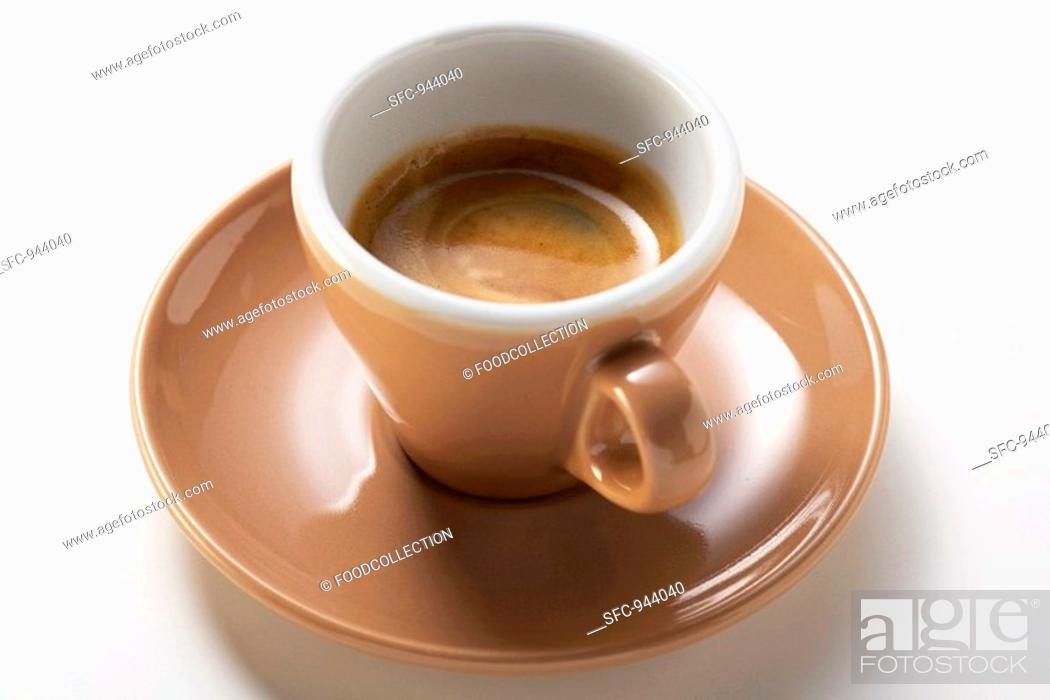 Stock Photo: A cup of espresso.