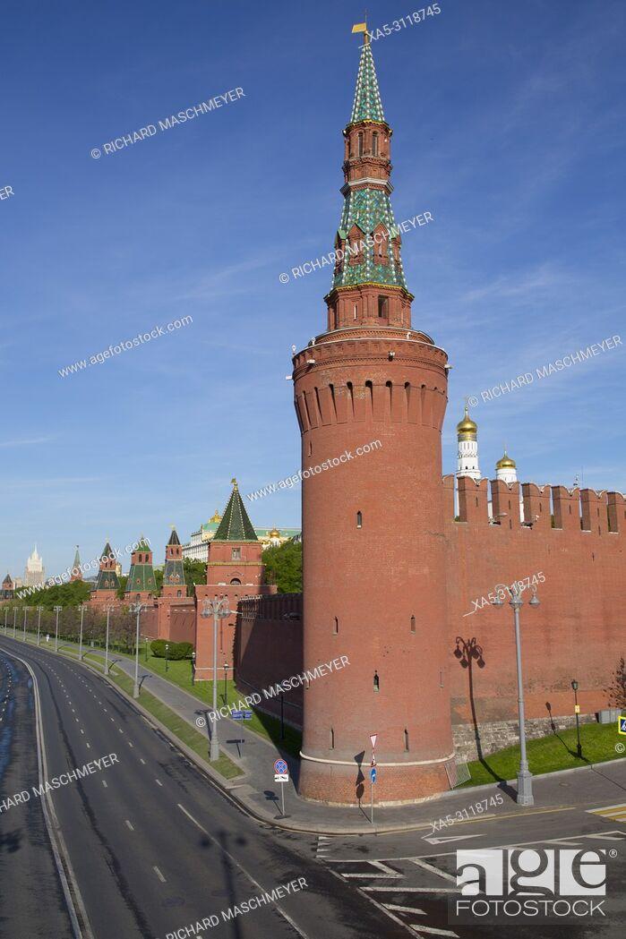 Imagen: The Moskvoretskaya Tower, Kremlin, UNESCO World Heritage Site, Moscow, Russia.