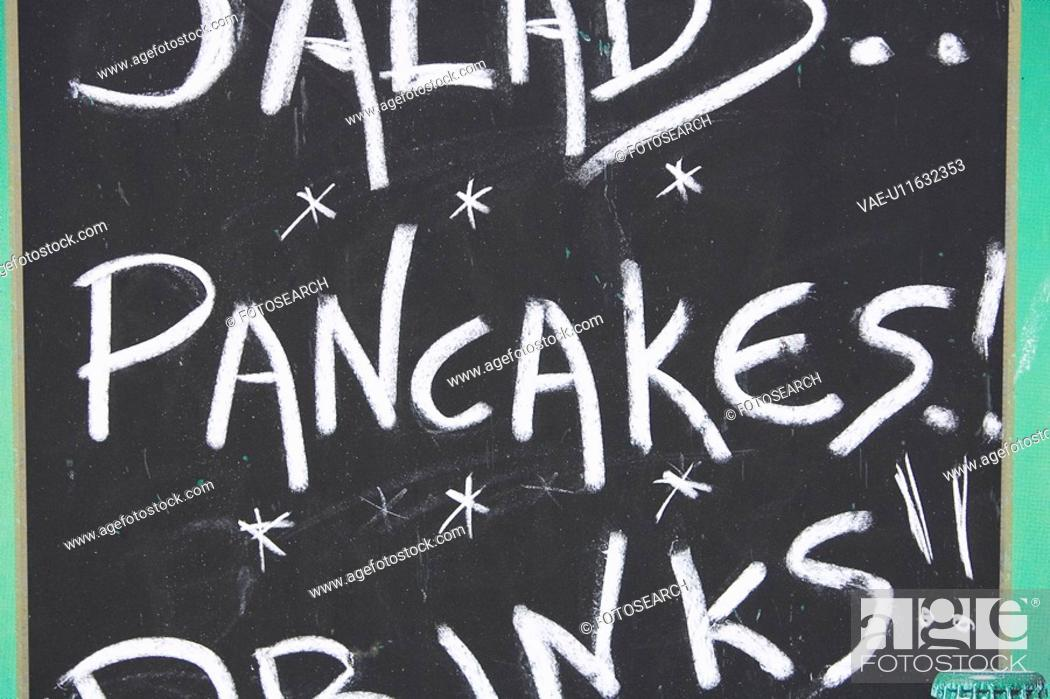 Stock Photo: Chalk, Black, Capital, Board, Blackboard, Alphabet.