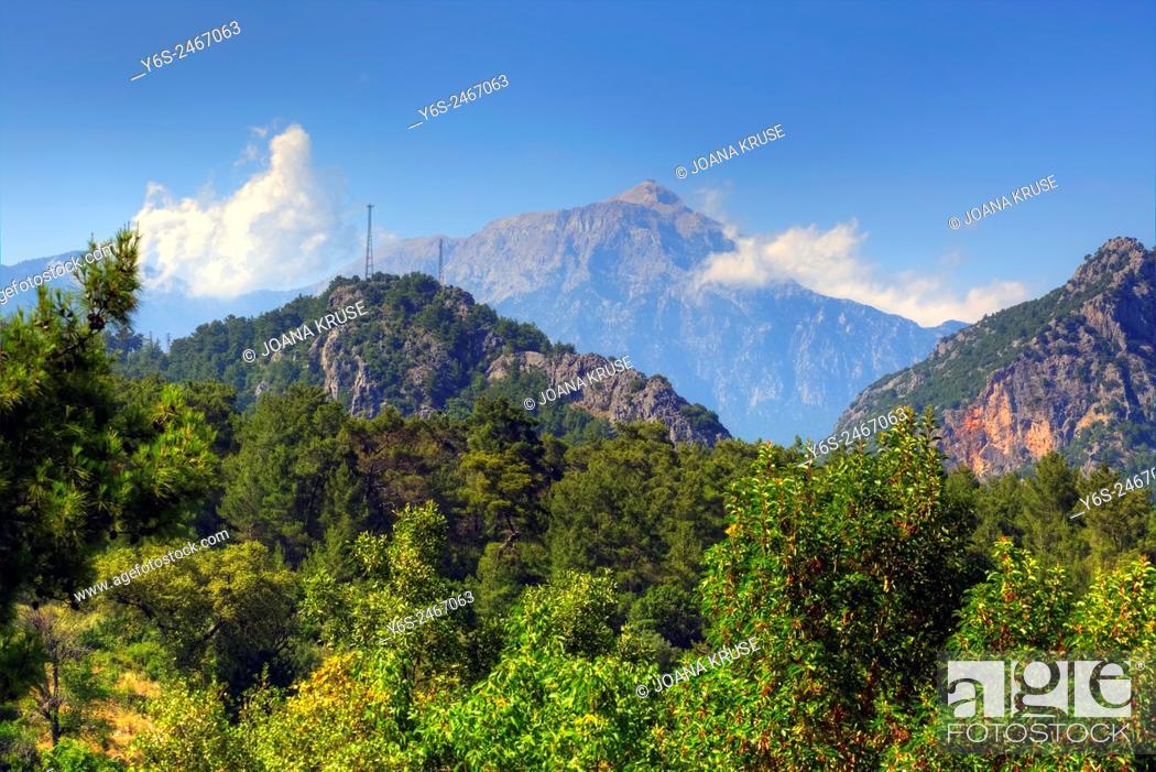Stock Photo: Tahtali Dagi, Mount Olympos, Lycia, Antalya, Turkey.