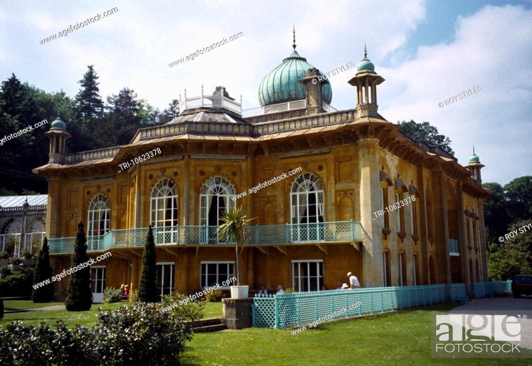 Stock Photo: Cotswolds Gloucestershire England Sezincote House Built In 1810 Moghul Influenced Architecture Architect Samuel Pepys Cockerell.