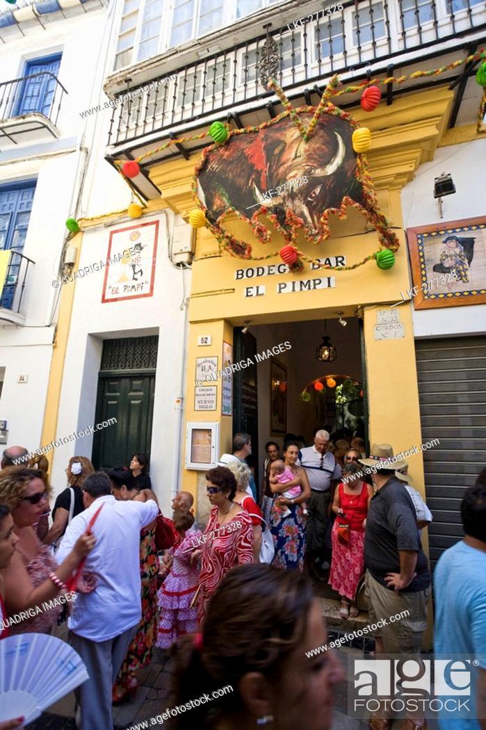 Well Known Bodega Bar El Pimpi Malaga Province Malaga Andalucia