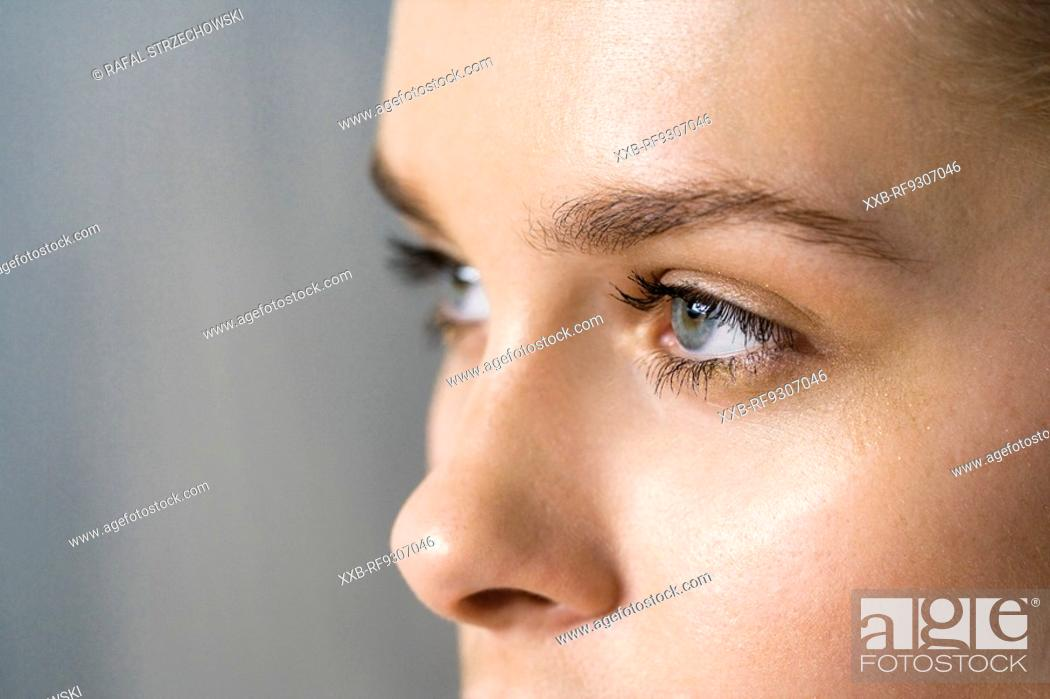 Stock Photo: close up of woman face.