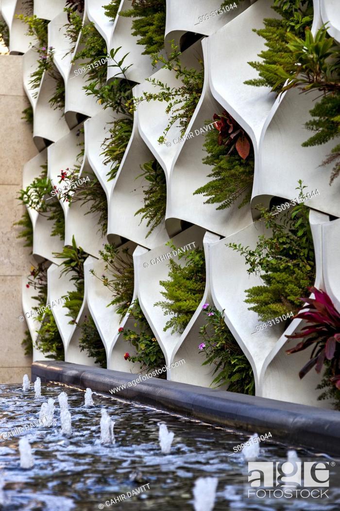 Stock Photo: Architectural detail of a planter, Tsim Sha Tsui, Kowloon, Hong Kong, S. A. R. , China.