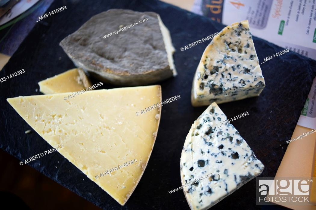 Stock Photo: Food, Cheese, Vulcania Auvergne region, France.