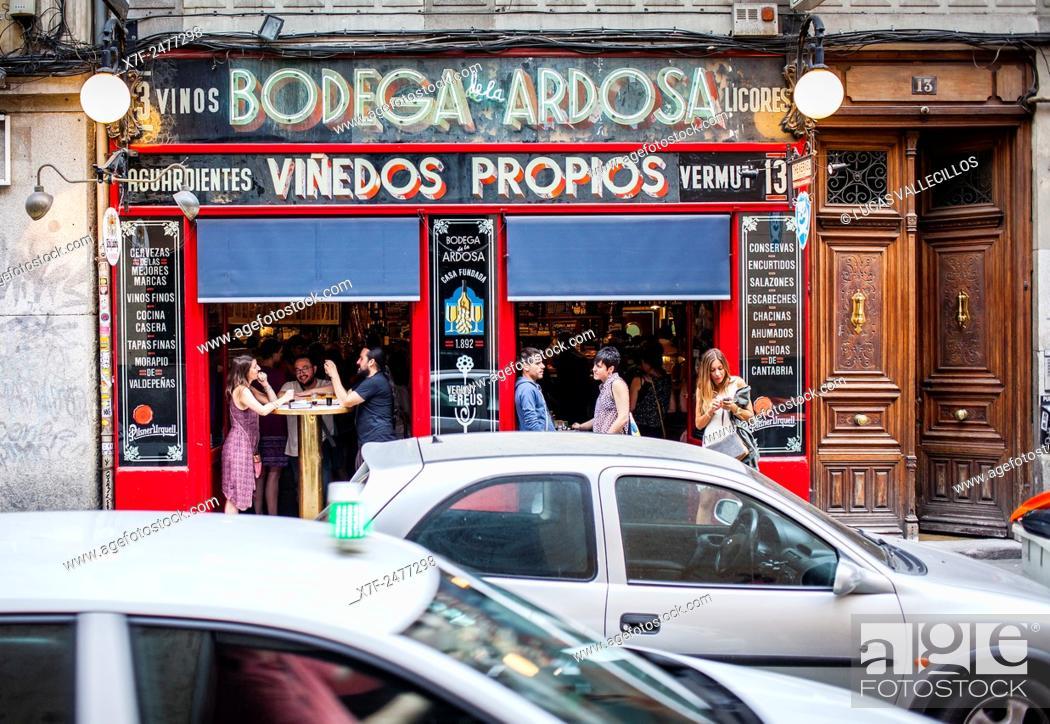 Bodega De La Ardosa Calle Colon 13 In Malasana Quarter Madrid