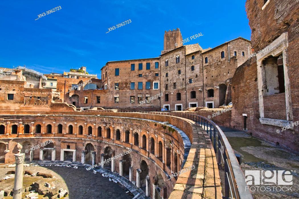 Stock Photo: Trajan's Market, Mercati di Traiano, Via dei Fori Imperiali, Rome, Lazio, Italy, Europe.