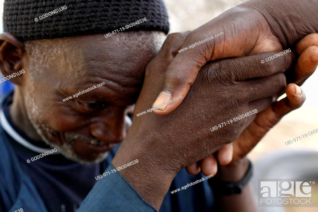 Greeting thies senegal stock photo picture and rights managed stock photo greeting thies senegal m4hsunfo