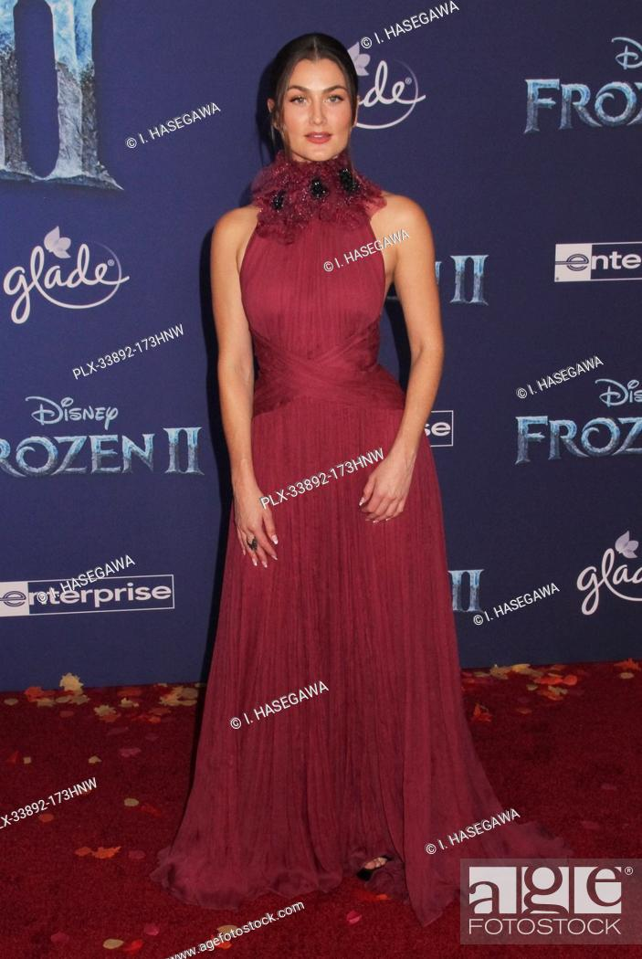 "Stock Photo: Rachel Matthews 11/07/2019 The World Premiere of """"Frozen 2"""" held at the Dolby Theatre in Los Angeles, CA. Photo by I. Hasegawa / HNW / PictureLux."