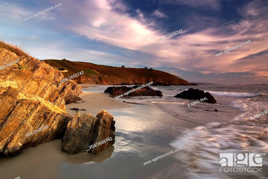 Stock Photo: Spain. Galicia. Pontevedra. Sanxenxo. Bascuas's beach.