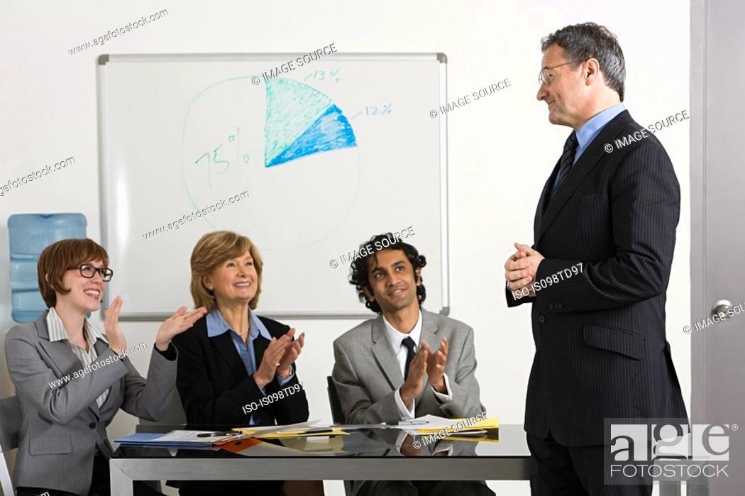 Stock Photo: Business presentation.