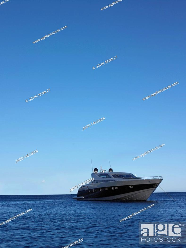 Stock Photo: Yacht on the Water.