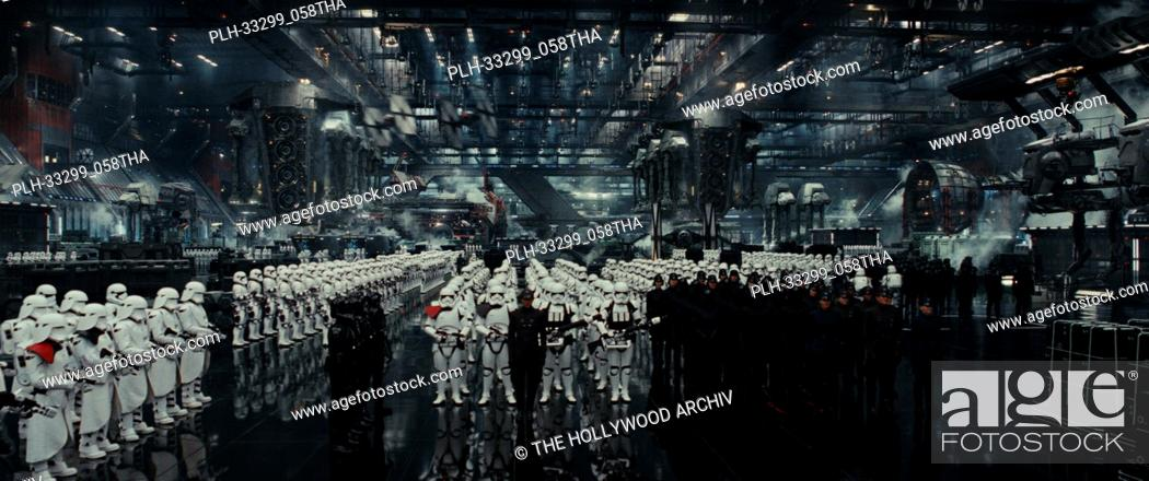 "Stock Photo: """"""Star Wars: The Last Jedi"""" (2017) First Order hangar. Lucasfilm Ltd."