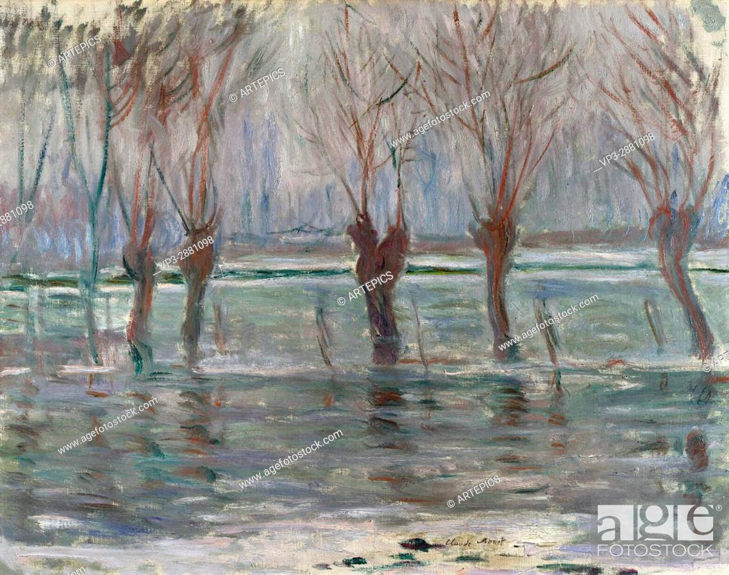 Stock Photo: Claude Monet. Flood waters . 1896. National Gallery London.