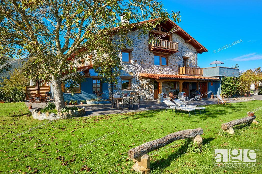 Stock Photo: Apartment in rural house, Deba, Gipuzkoa, Basque Country, Spain, Europe.