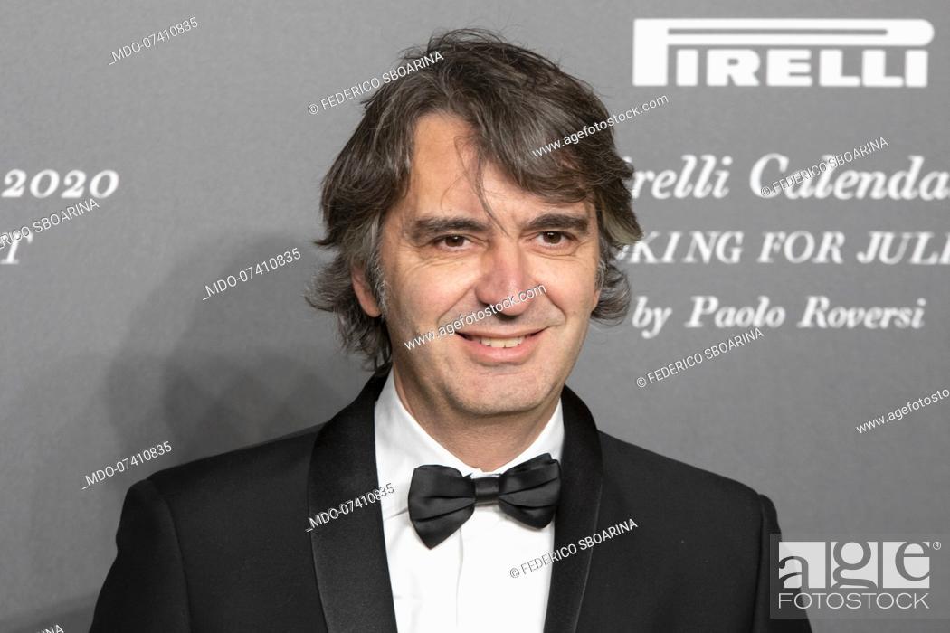 Stock Photo: Italian politician Federico Sboarina during the presentation of the Pirelli 2020 Calendar at the Verona Philharmonic Theater.