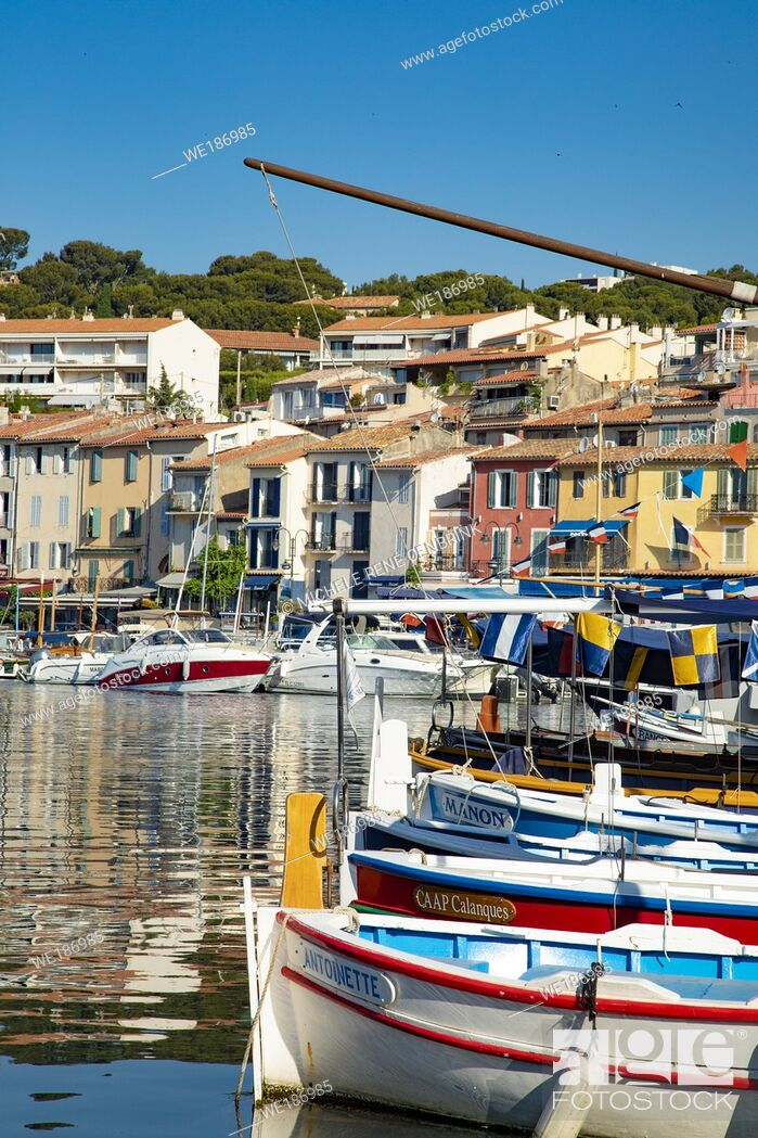 Stock Photo: Cassis a Mediterranean fishing port in Southern France.