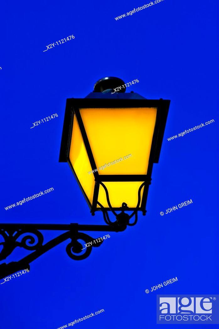 Stock Photo: Street lamp, Spain.