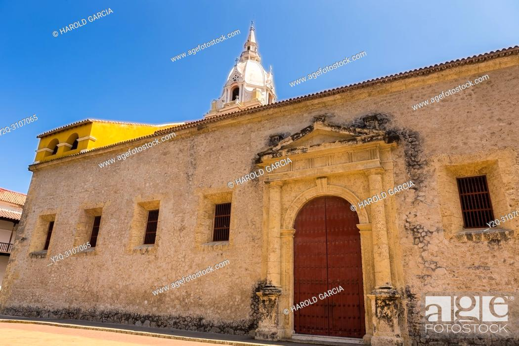 Stock Photo: Cathedral Basilica of St. Catherine of Alexandria in the ancient walled city of Cartagena de Indias. UNESCO's historical heritage of humanity.
