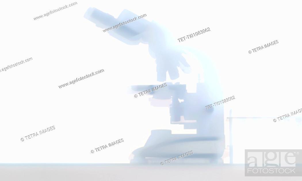 Stock Photo: Laboratory microscope.
