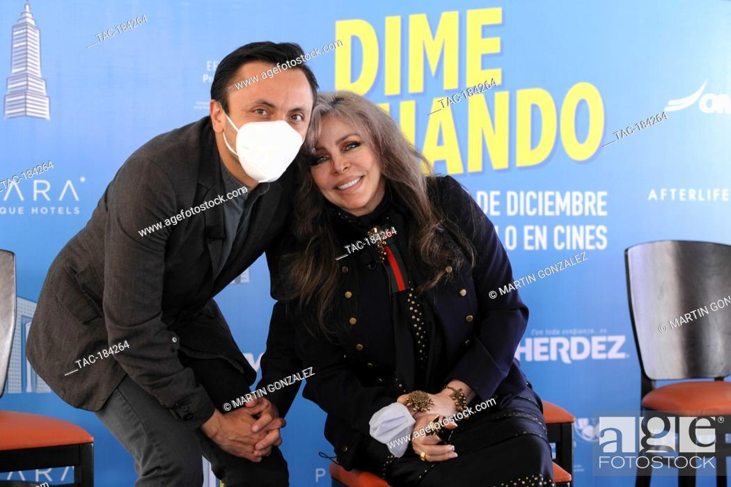 Stock Photo: MEXICO CITY, MEXICO ñ DECEMBER 14: Actress Veronica Castro and Michellle Castro during the press conference for the movie ëDime Cuando Tuí on December 14 2020.