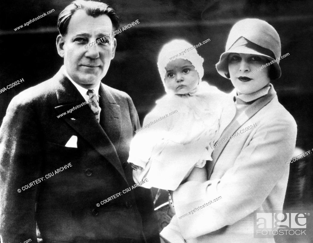 Warner Brothers CEO Sam Warner, with his wife Lina Basquette Warner