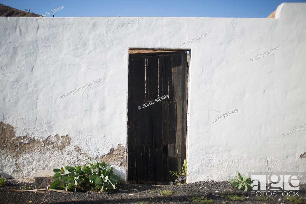 Stock Photo: House in Fuerteventura, Canary islands, Spain.