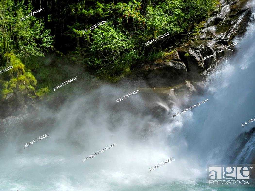 Stock Photo: Krimml Waterfalls, High Tauern National Park, Krimml, Pinzgau region, Salzburger Land region, Salzburg (state), Austria, Europe.