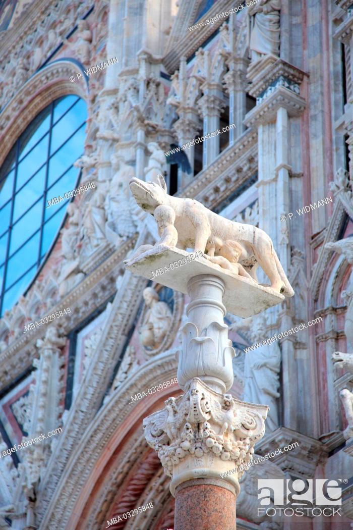 Stock Photo: Italy, Tuscany, Siena, Piazza del Duomo, Duomo, Santa Maria Assunta, UNESCO-world cultural heritage,.