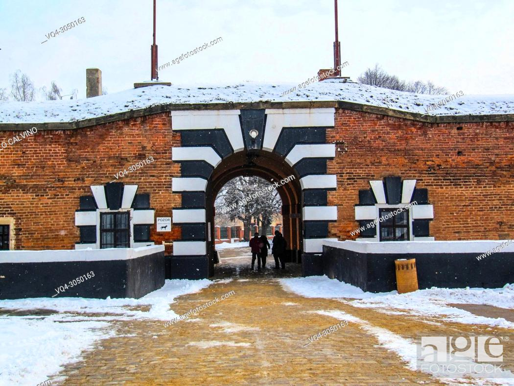 Stock Photo: Gestapo prison, prison of the secret state police of Nazi Germany, Terezin, Czech Republic.