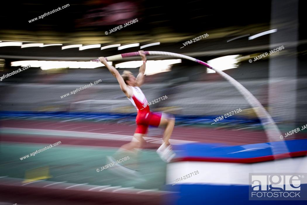 Imagen: Belgian Ben Broeders pictured in action during the 'Brussels Grand Prix' athletics meeting, in Brussels, Sunday 09 August 2020.