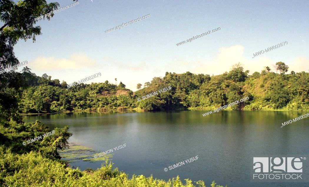 A scenic beauty of Boga Lake, Bandarban Hill Tract