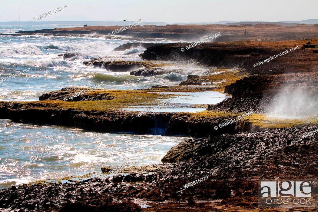 Stock Photo: Cabo de la Vela, Guajira Peninsula, La Guajira, Riohacha, Colombia.