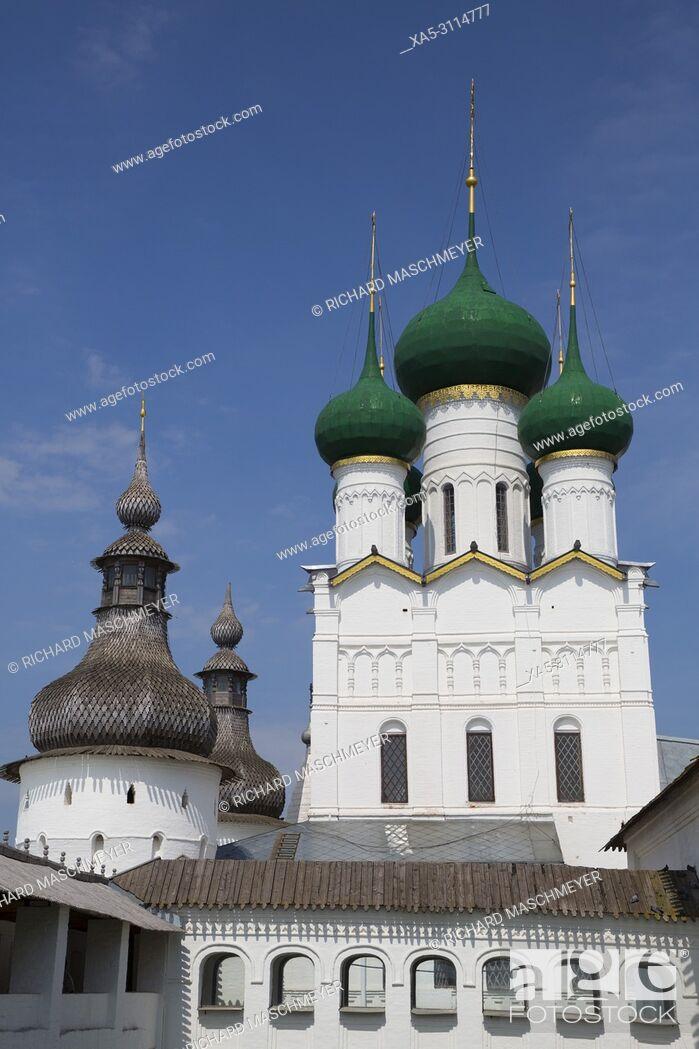 Stock Photo: Gate Church of St. John the Devine, Kremlin, Rostov Veliky, Golden Ring, Yaroslavl Oblast, Russia.