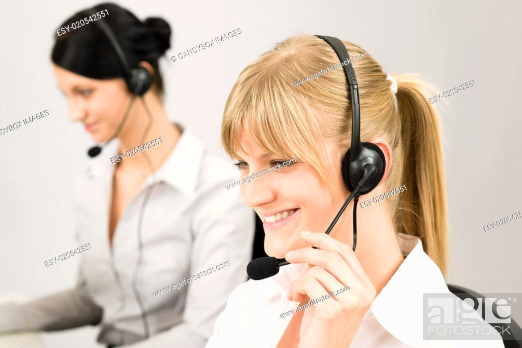 Customer Service Woman Call Center Phone Headset Stock Photo Picture And Low Budget Royalty Free Image Pic Esy 020542551 Agefotostock