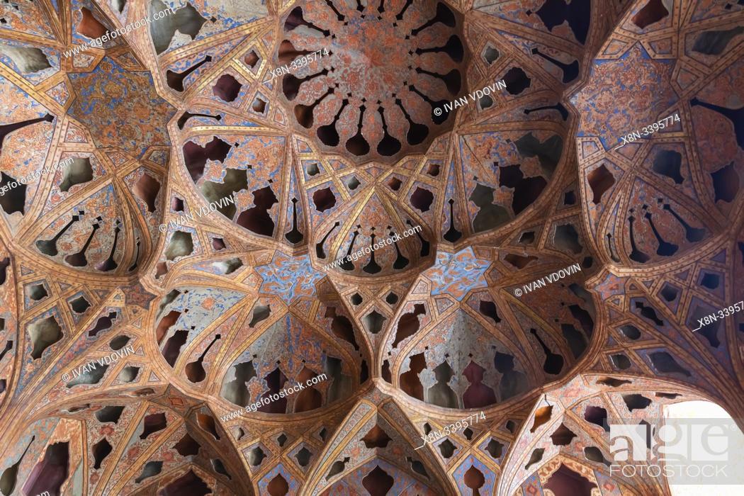 Imagen: Music Hall, Ali Qapu palace, Isfahan, Isfahan Province, Iran.