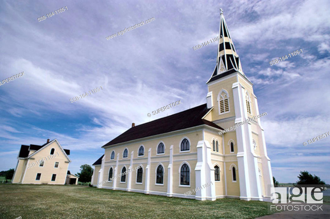 Stock Photo: Low angle view of a church, USA.