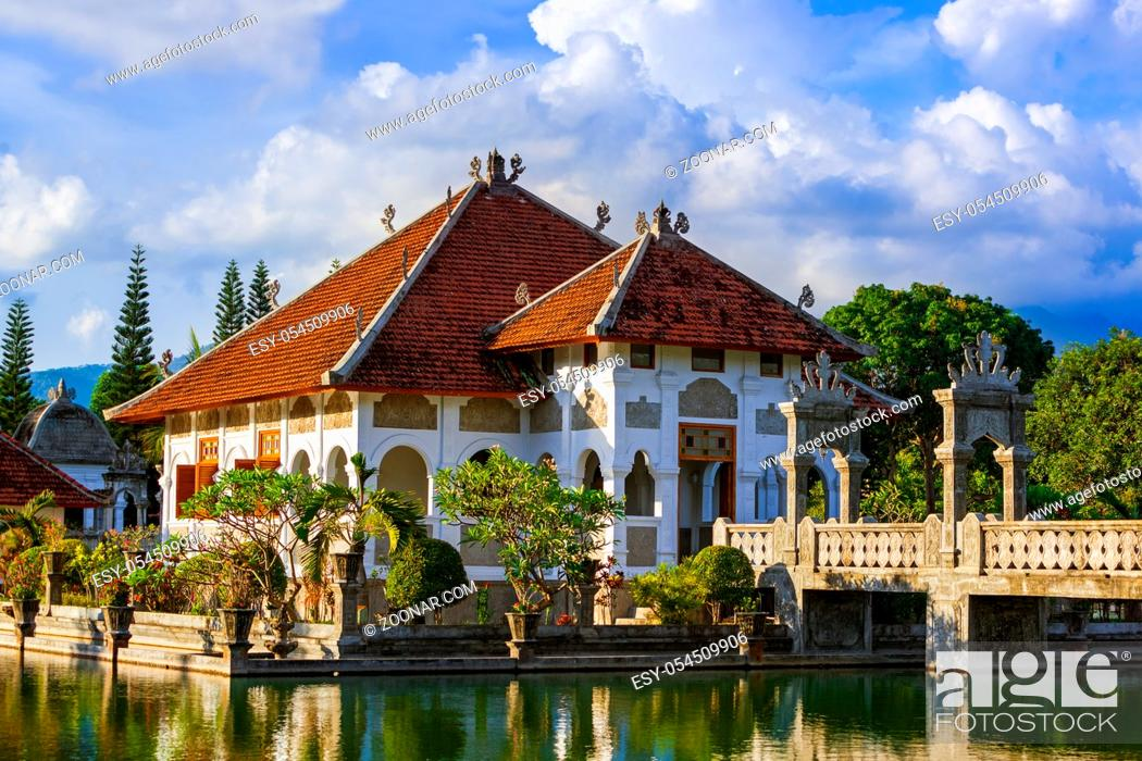 Stock Photo: Water Palace Taman Ujung in Bali Island Indonesia - travel and architecture background.