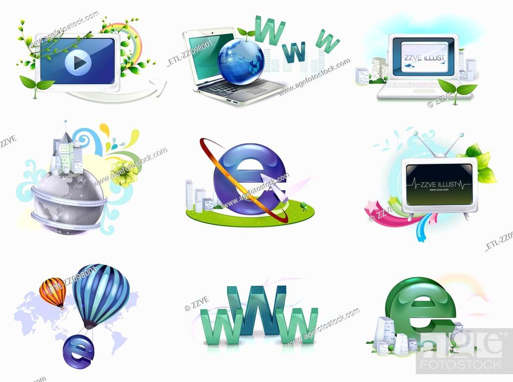 Stock Photo: Web icon set.