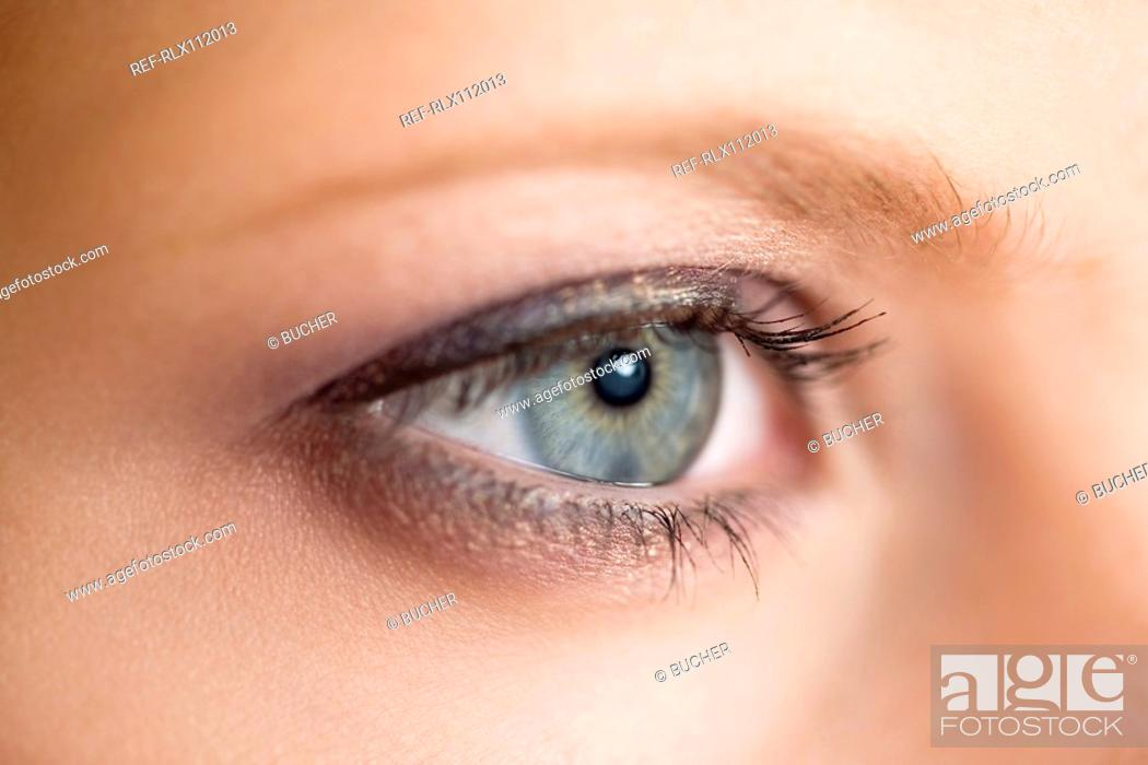 Stock Photo: Close up of young woman's eye.