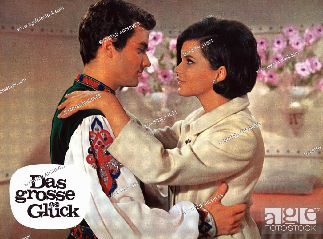 Stock Photo: Das grosse Glück, Österreich 1967, Regie: Franz Antel, Darsteller: Hans Jürgen Bäumler, Uschi Glas.