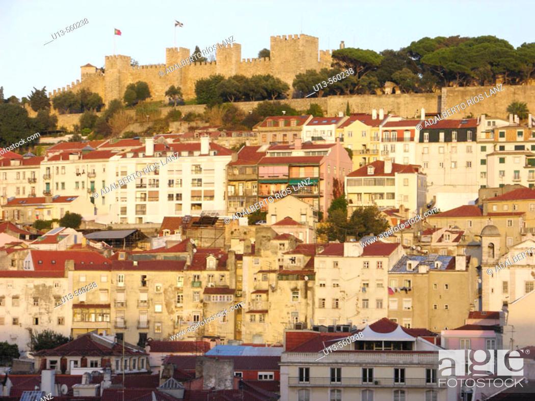 Stock Photo: Castelo de São Jorge. Lisbon. Portugal.