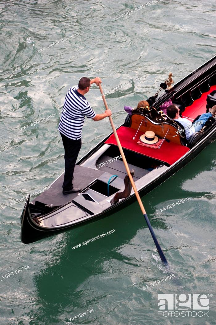 Stock Photo: Gondola, Venice, Veneto, Italy.