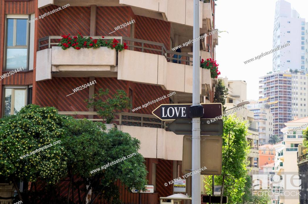 Imagen: Love sign, street, Monaco.