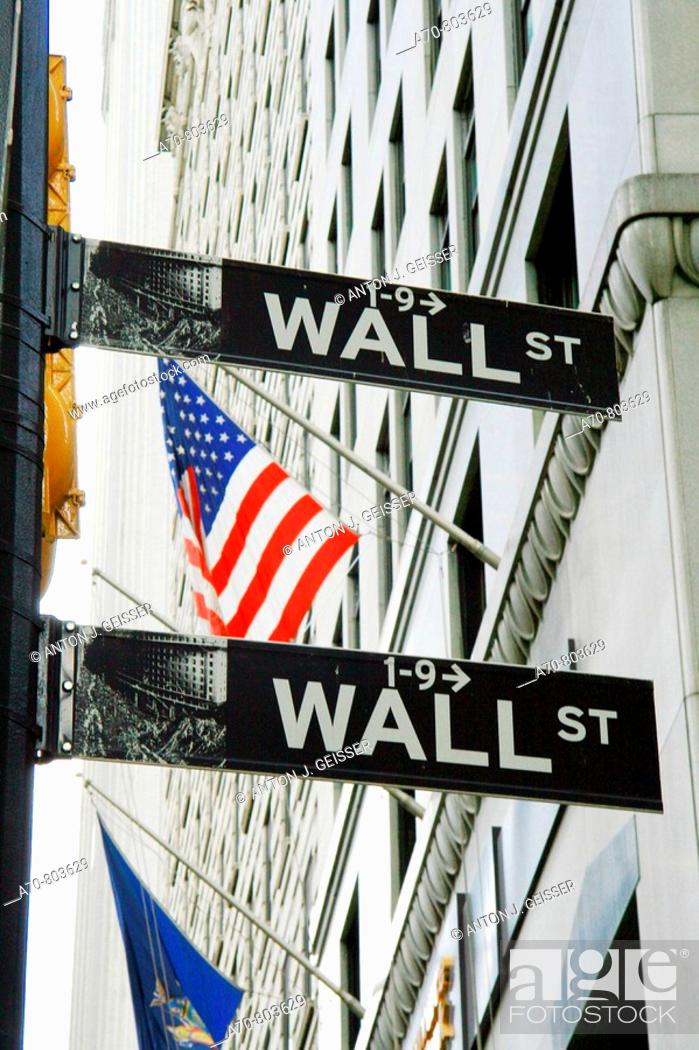 Stock Photo: USA, New York City, Wall Street.