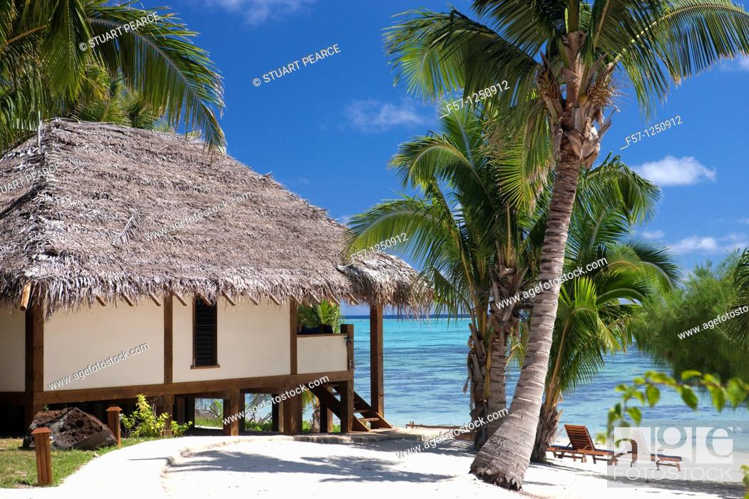 Stock Photo: Aitutaki in The Cook Islands.