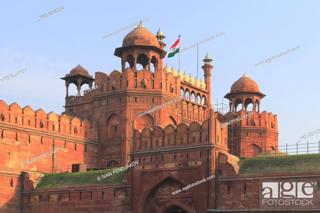 Stock Photo: Red Fort, New Delhi, India.